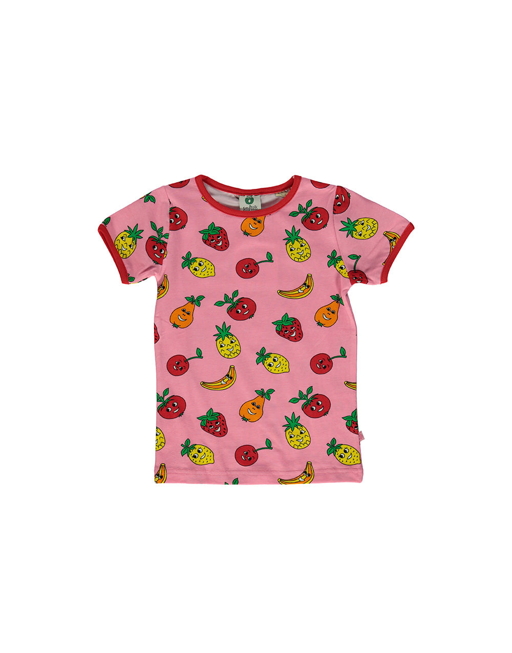 SMAFOLK  T-shirt with  Fruits   Sea pink