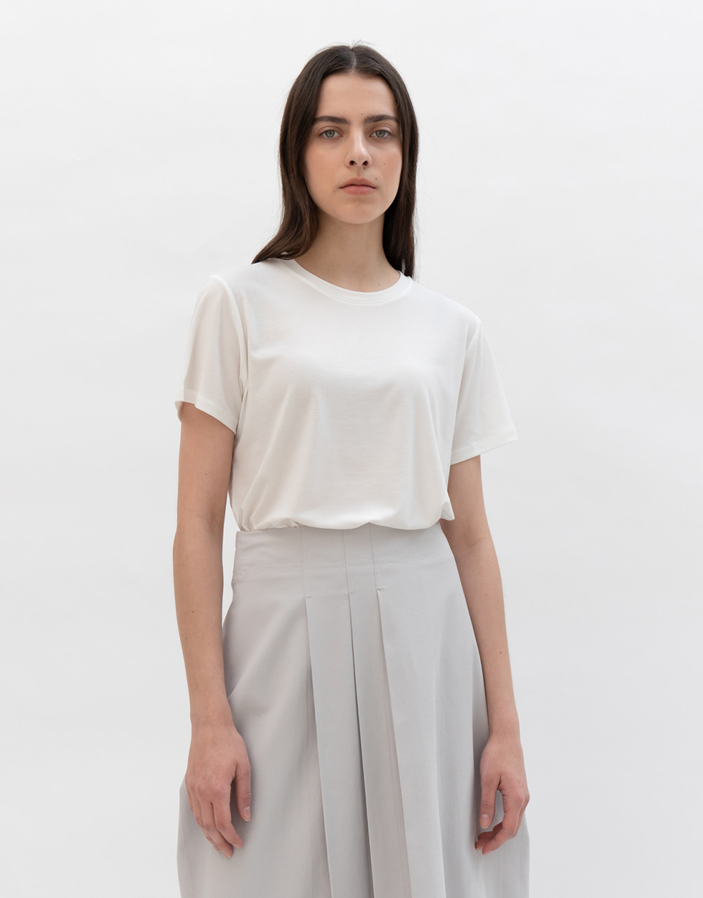 GBH APPAREL ADULT  Lyocell Basic Top  WHITE