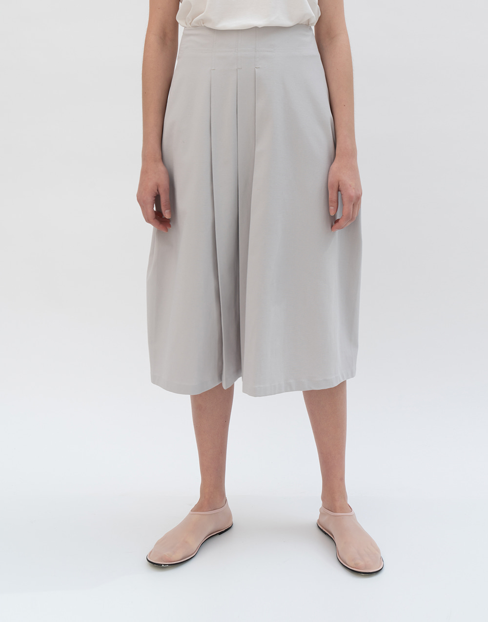 GBH APPAREL ADULT  Tucked Wrap Skirt LIGHT GRAY