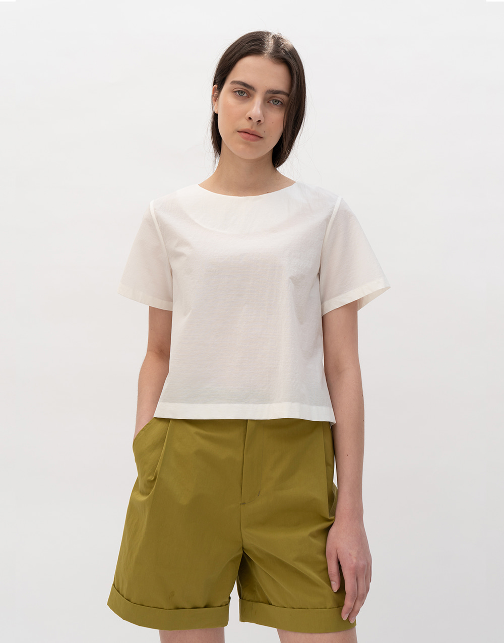 GBH APPAREL ADULT   Simple Blouse WHITE