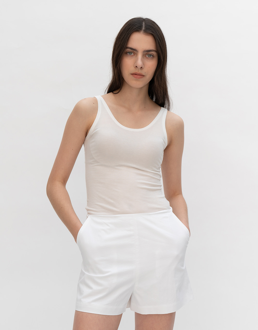 GBH APPAREL ADULT  Lyocell Sleeveless Top    IVORY