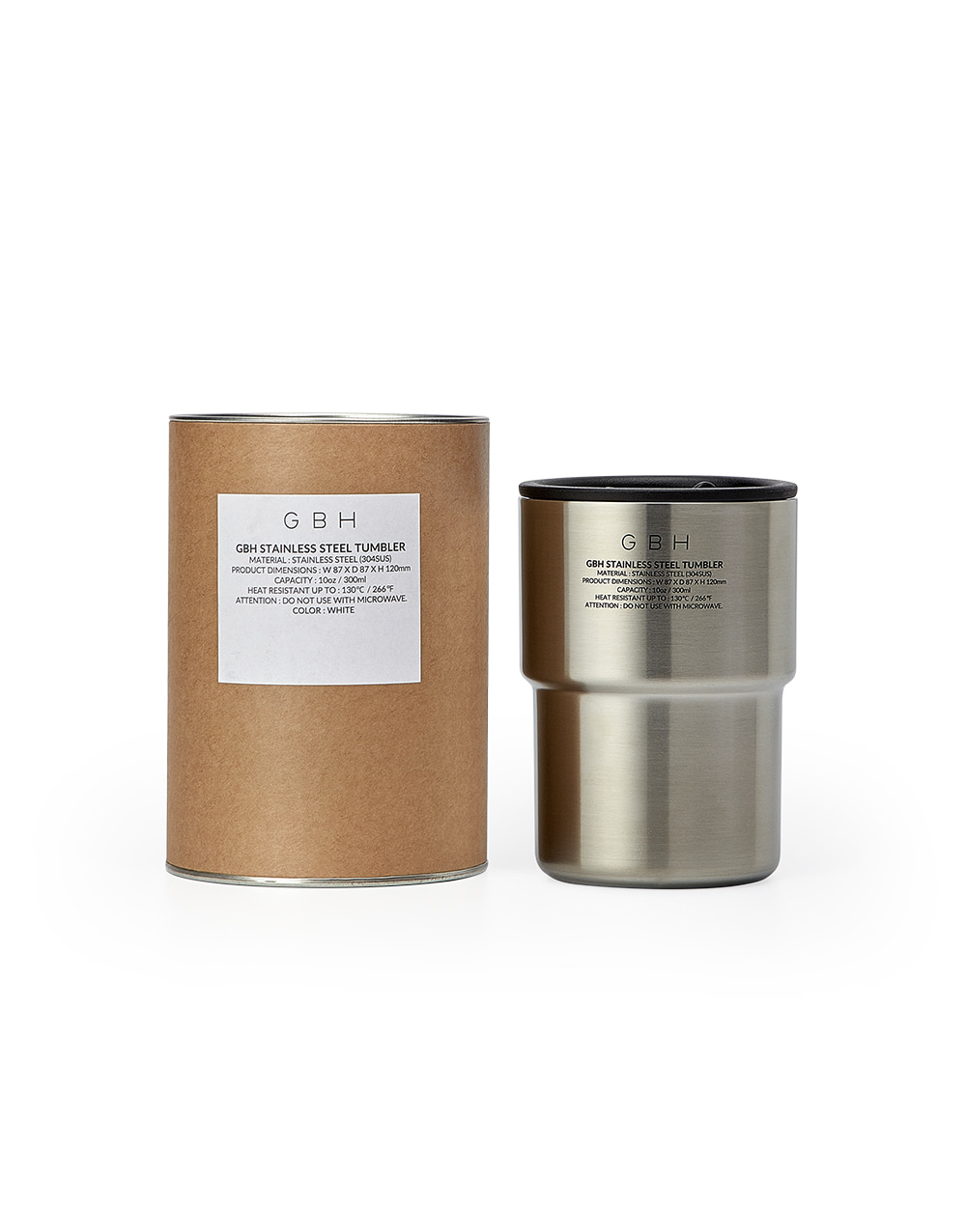 GBH HOME STAINLESS STEEL TUMBLER + TUMBLER POUCH
